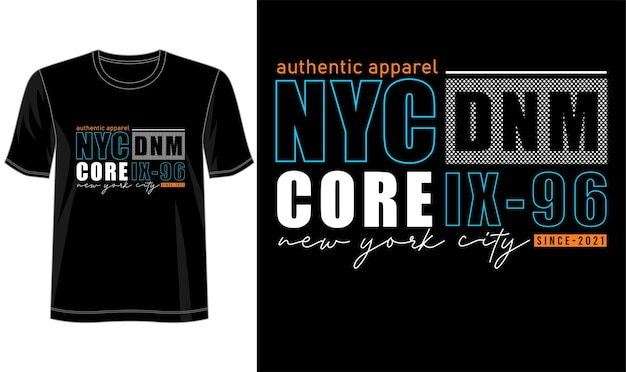 Conception De T-shirt Typographie De Lettrage New York City Vecteur Premium