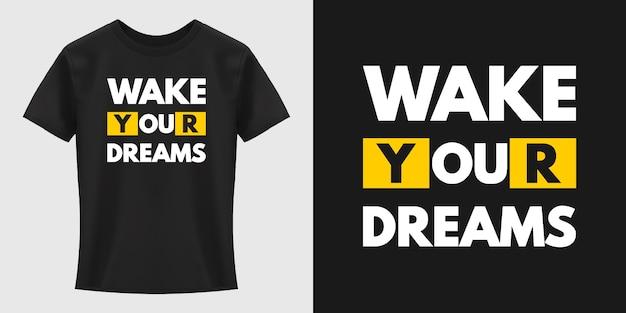 Conception De T-shirt De Typographie Vecteur Premium