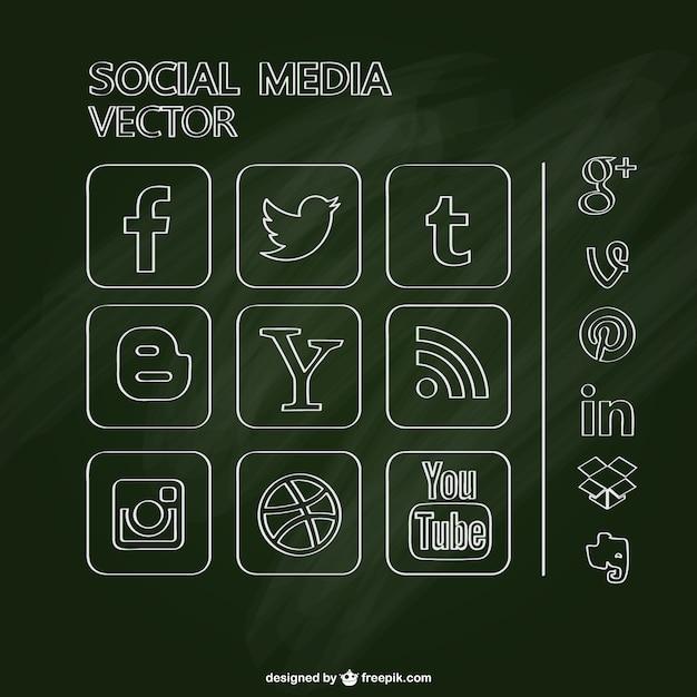 Conception de tableau de médias sociaux sans Vecteur gratuit