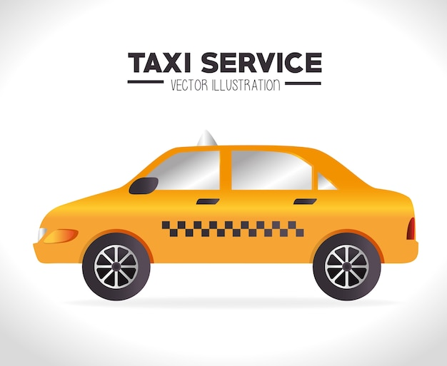 Conception de taxi, illustration vectorielle. Vecteur Premium