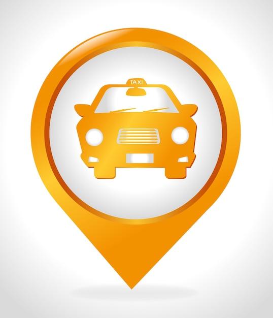 Conception de taxi, illustration vectorielle. Vecteur Premium