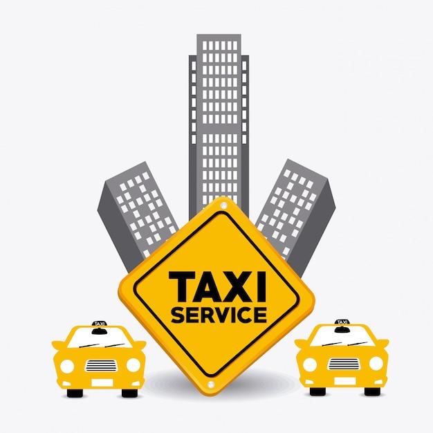 Conception de taxi. Vecteur Premium