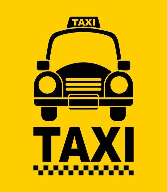 Conception de taxi Vecteur Premium