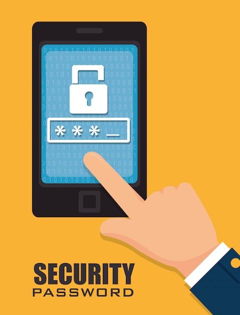 Conception De La Technologie Du Système De Sécurité Dans Un Style Plat Vecteur gratuit