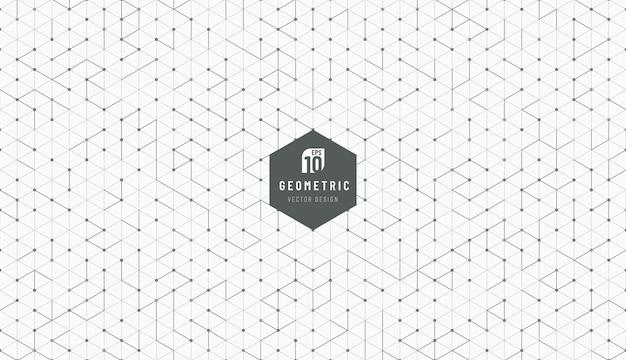 Conception De Technologie De Technologie Noir Et Gris De Fond De Style Hexagonal. Vecteur Premium