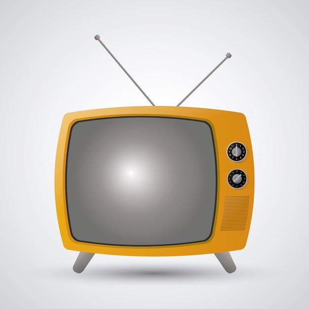 Conception de télévision rétro Vecteur Premium
