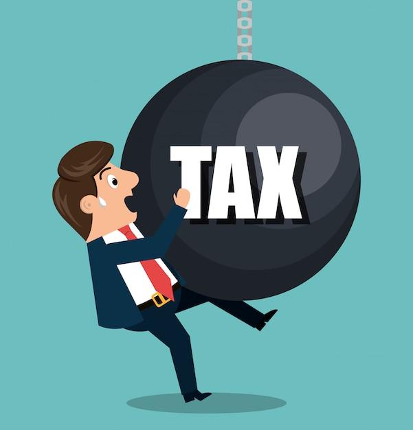 Conception de temps d'impôt Vecteur Premium