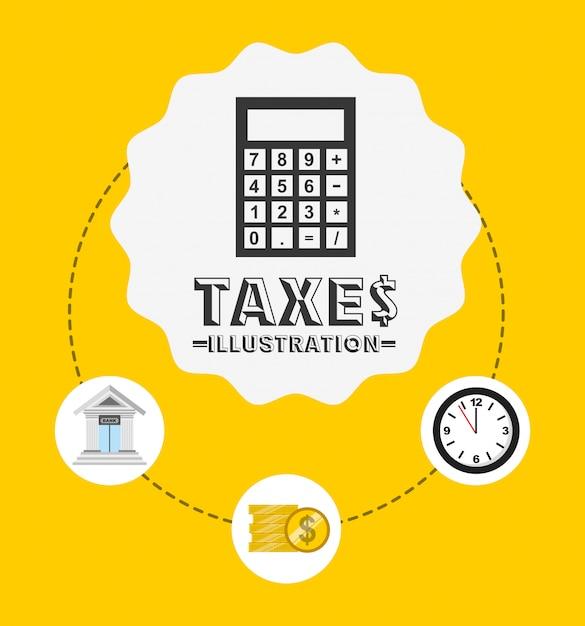 Conception de temps d'impôt Vecteur gratuit