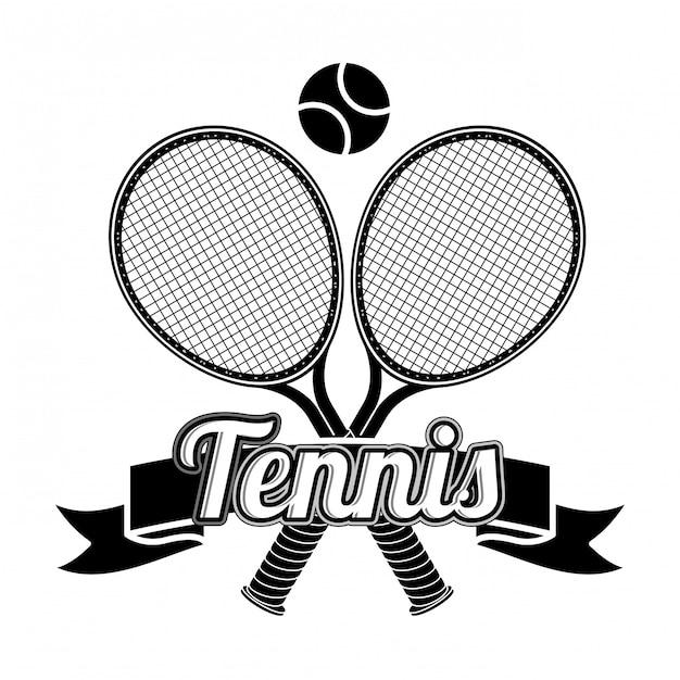 Conception de tennis Vecteur Premium