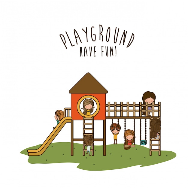 Conception de terrain de jeu, illustration vectorielle. Vecteur Premium