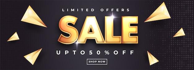 Conception d'en-tête ou de bannière de vente Vecteur Premium