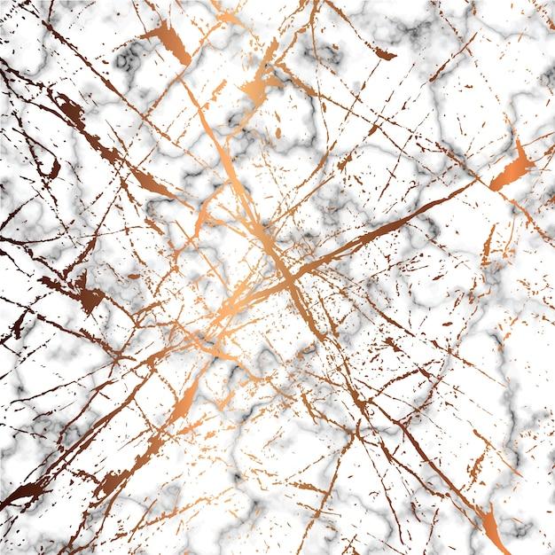Conception De Texture De Marbre Avec Des Lignes D'éclaboussures Dorées, Surface De Persillage Noir Et Blanc, Fond Luxueux Moderne Vecteur Premium
