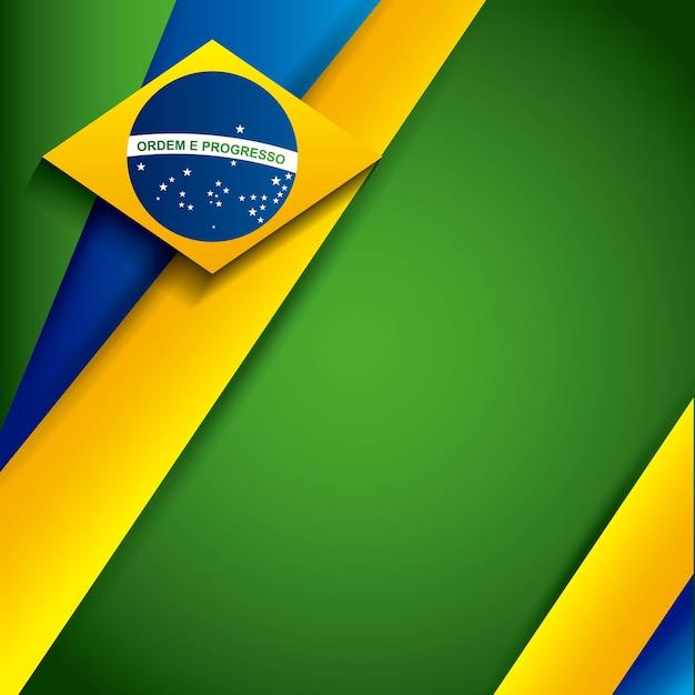 Conception de timbres au brésil Vecteur Premium