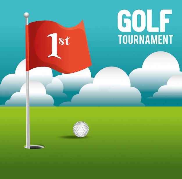 Conception de tournoi de golf Vecteur Premium