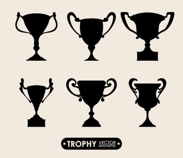 Conception de trophée Vecteur Premium
