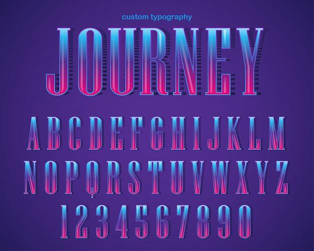 Conception de typographie abstraite audacieux gras Vecteur Premium