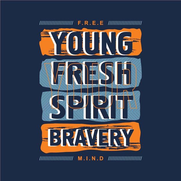 Conception de typographie graphique abstraite jeune slogan pour t-shirt imprimé prêt Vecteur Premium