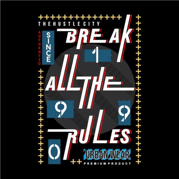 Conception de typographie graphique slogan pour t-shirt prêt à imprimer Vecteur Premium