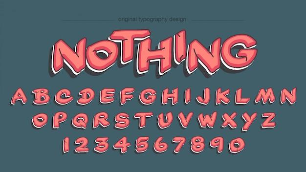 Conception De Typographie De Style Graffiti Rouge Vecteur Premium