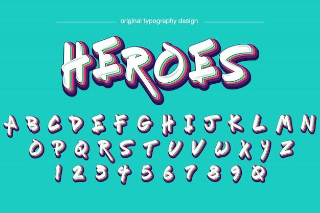 Conception de typographie de style graffiti Vecteur Premium