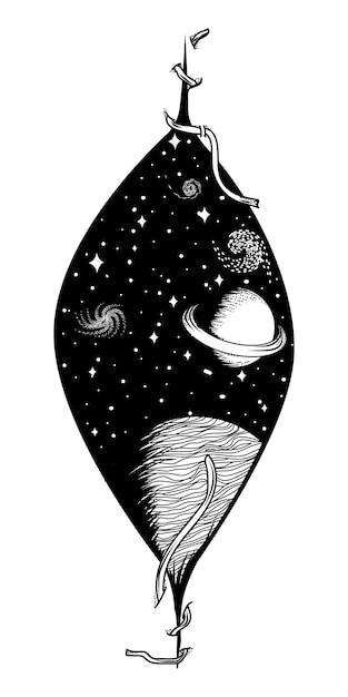 Conception D'univers Vecteur Premium