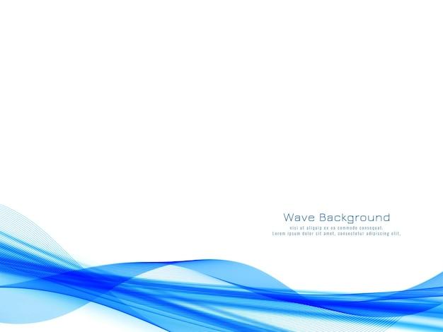 Conception De Vague Bleue Moderne Décorative Vecteur gratuit