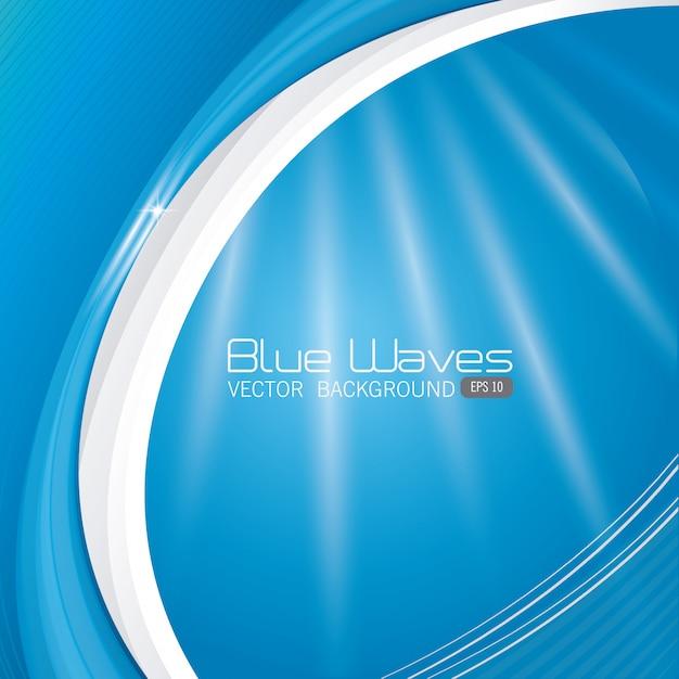 Conception de vagues bleues. Vecteur gratuit