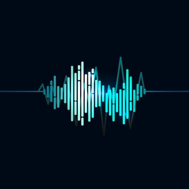 Conception de vecteur d'égaliseur d'onde sonore Vecteur gratuit