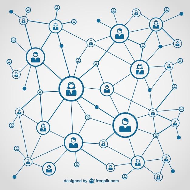 Conception de vecteur libre des médias sociaux Vecteur gratuit