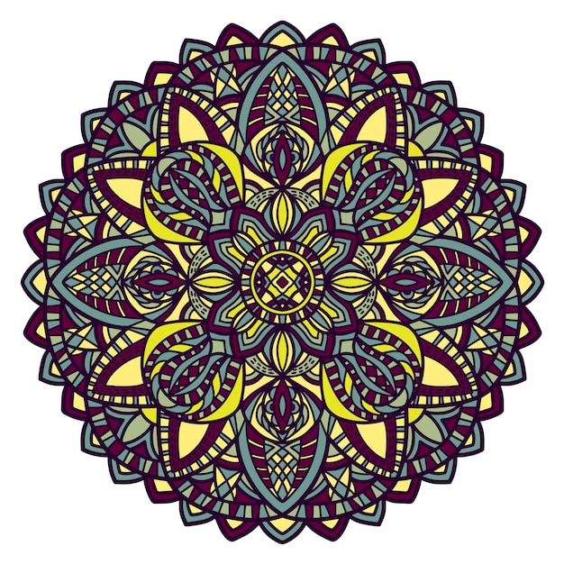 Conception de vecteur de mandala pour l'impression. ornement tribal. Vecteur Premium