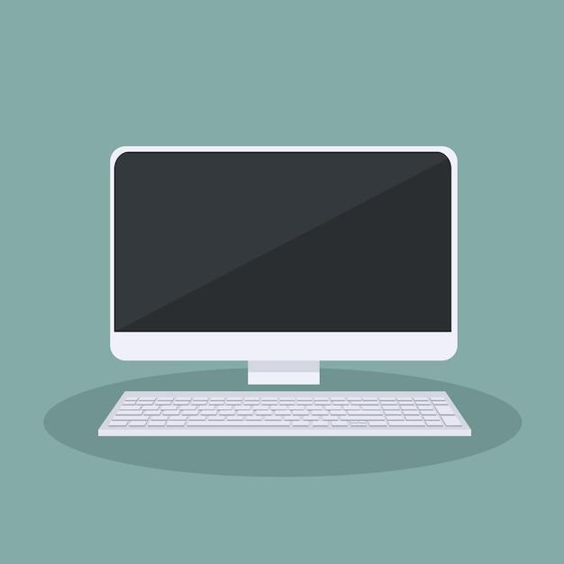 Conception de vecteur d'ordinateur personnel Vecteur Premium