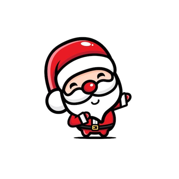 Conception De Vecteur De Père Noël Dabbing Pose Vecteur Premium
