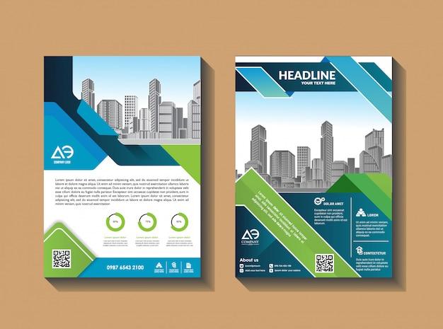 Conception de vecteur pour catalogue de couverture brochure brochure et dépliant Vecteur Premium