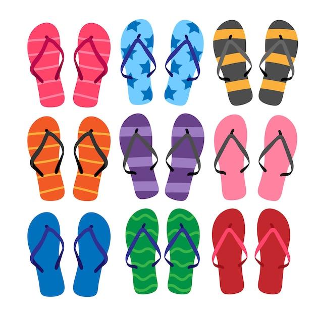 Conception de vecteur de sandales Vecteur Premium