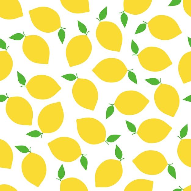 Conception de vecteur transparente motif citron Vecteur Premium