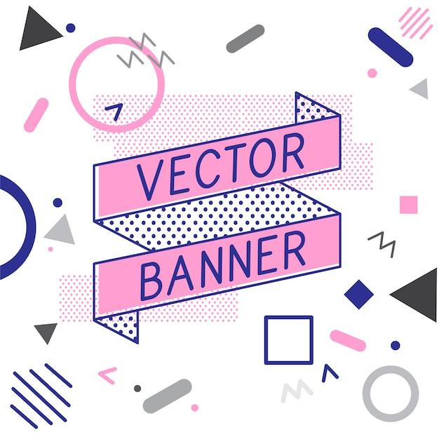 Conception de vecteurs bannière bannière Vecteur gratuit