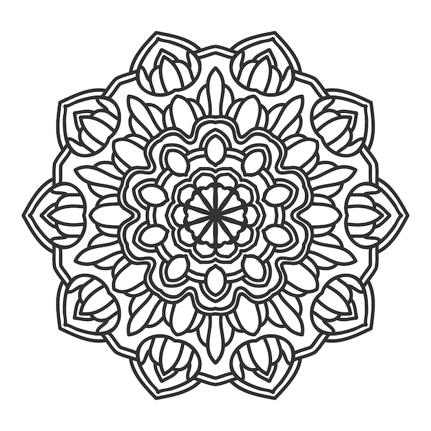 Conception de vector illustration fleur mandala Vecteur Premium