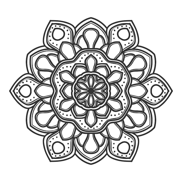 Conception De Vector Illustration Fleur Mandala Vecteur Premium