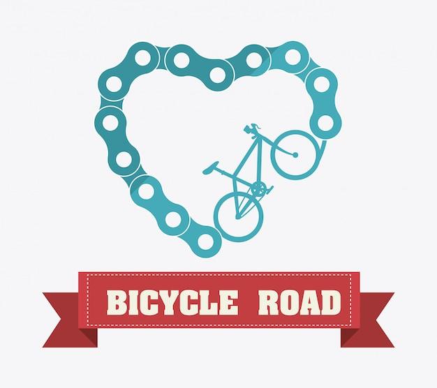 Conception de vélo. Vecteur Premium