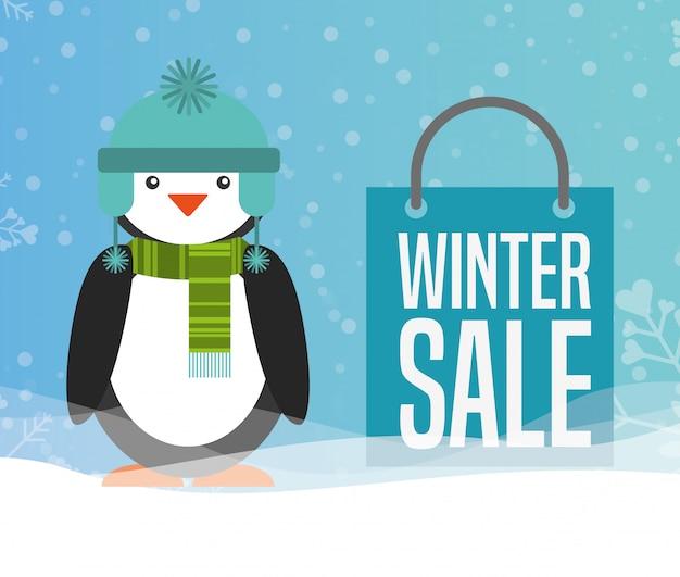 Conception de vente d'hiver Vecteur Premium