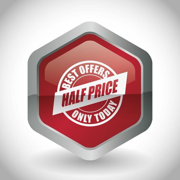 Conception de vente Vecteur Premium