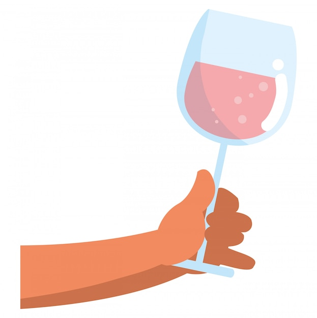 Conception de verre de champagne Vecteur Premium