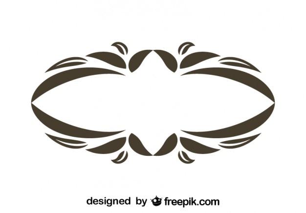 conception vintage ovale floral cadre d coratif t l charger des vecteurs gratuitement. Black Bedroom Furniture Sets. Home Design Ideas