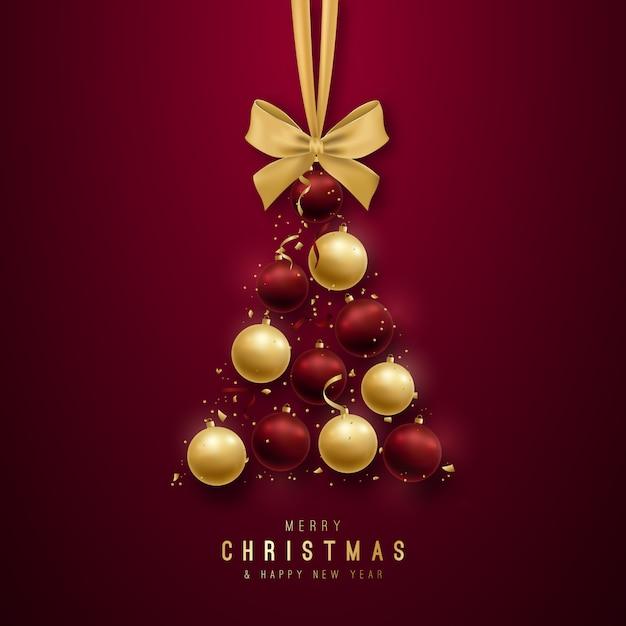 Conception De Voeux Joyeux Noël. Vecteur Premium