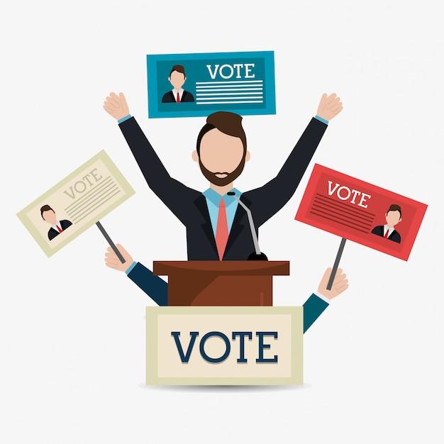 Conception de vote. Vecteur Premium