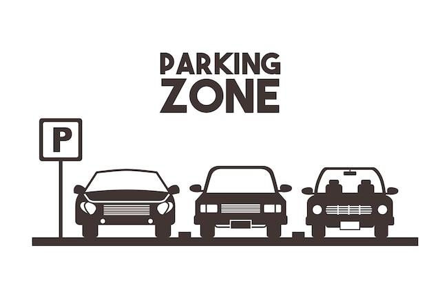 Conception de zone de stationnement Vecteur Premium