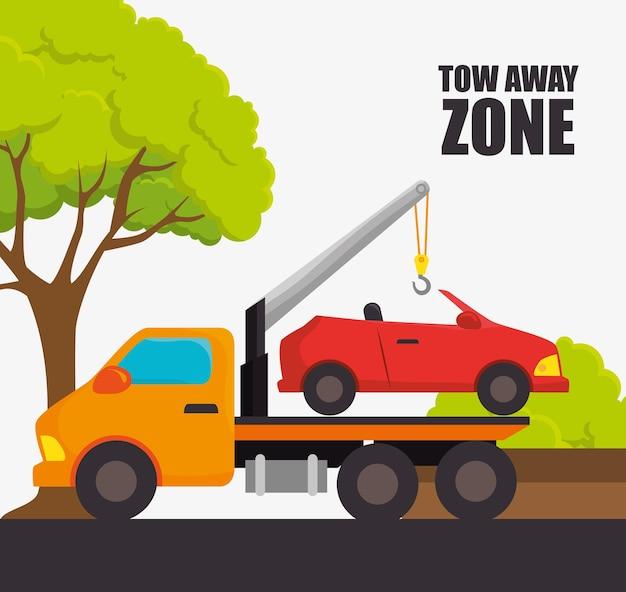 Conception de zones de stationnement ou de parc Vecteur Premium