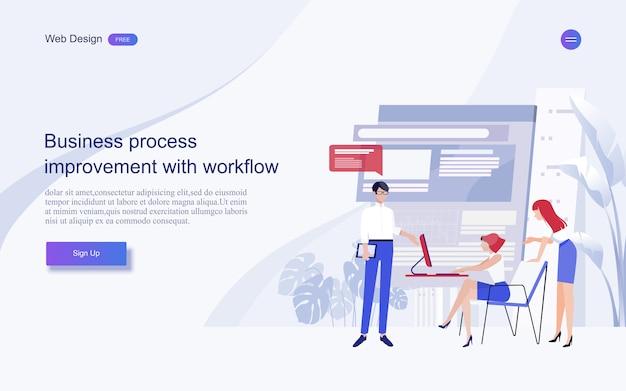 Concepts commerciaux pour l'analyse et la planification, le conseil en équipe, la gestion de projet, les rapports financiers et la stratégie. . Vecteur Premium