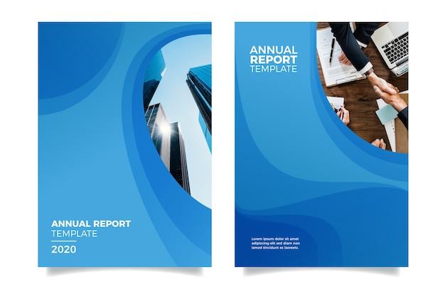 Concevoir Le Rapport Annuel Avec Les Bâtiments Vecteur gratuit