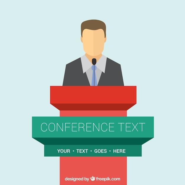 Conférence Modèle De Podium Vecteur gratuit